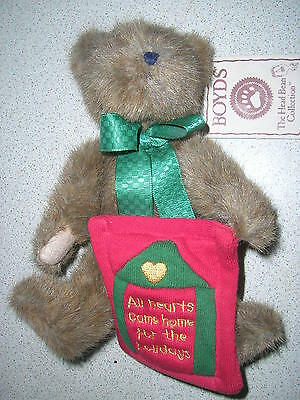 Lovely Boyds Bear 'homer' Christmas All Hearts Come Home For The Holidays Bnwt