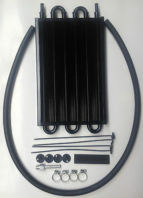 Oil Cooler Kit Auto Trans Universal Extra Large With Easy To Fit Mounting Kit