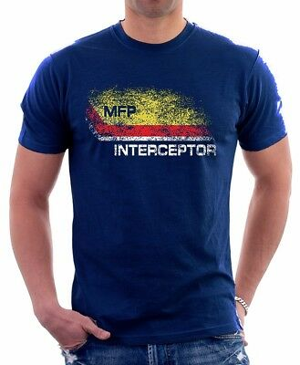 Mad Max inspired MFP Interceptor V8 pursuit car NAVY printed t-shirt FN9279