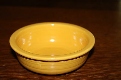 Vintage Fiesta Ware Yellow Bowl Small USA Pottery