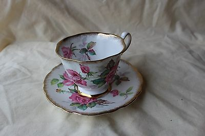 Royal Stafford Tea Cup and Saucer Berkeley Rose made in England Bone China