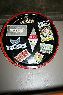 Vintage Bar Serving Drink Tray by Haniware made in England Wine Labels Display