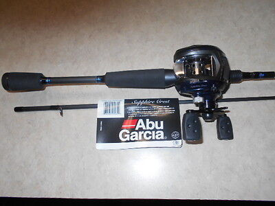 Abu Garcia Sapphire Crest 6 Ft.6 In Med./hvy Bait Casting  Combo W / Flipping Sw