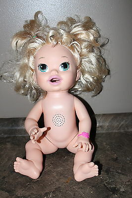 Baby Alive Doll Hasbro Europe Talking English & French 2014 Works Well no dress