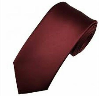Burgundy satin tie for kids boy toddler baby FAST SHIPPING!