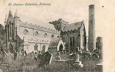 St Canices Cathedral Kilkenny Ireland Vintage Irish Postcard Posted 29-Sept-1904