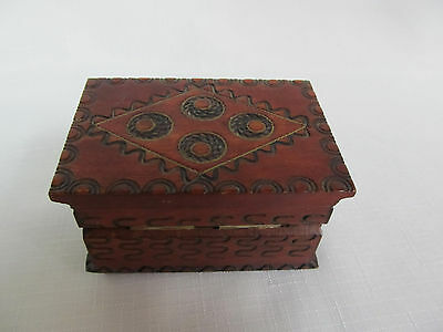 Wood and copper small Trinket Box