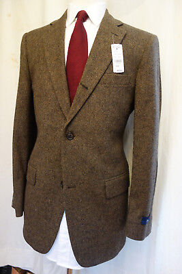 NWT Brooks Brothers 1818 Madison Donegal Tweed 3 Roll 2 Sack Suit MSRP $998