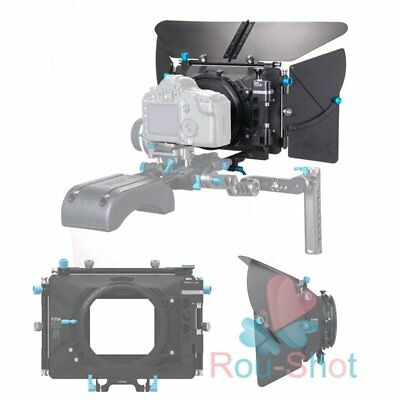 "FOTGA D500 Mark III Professional Matte Box For 15mm/0.59in Rod Rig 4x4"" Filter"