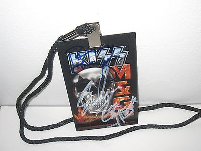 Kiss Signed Freedom To Rock Tour Vip Laminate Autograph Gene Simmons Cd Proof