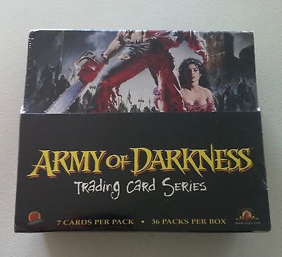 Army Of Darkness Trading Card Series Sealed Box Dynamic Forces 36 Packs Unopened