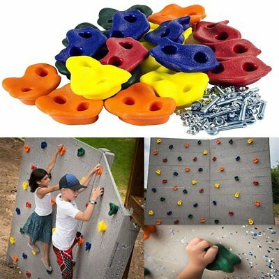 Kids Rock Wall Climbing Hand Hold With Hardware Screw Outdoor Fashion Sport Tool
