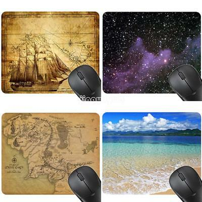 Fashion Anti-Slip Laptop PC Computer Mice Pad Mat Mousepad Letter Map Design