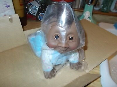 VTG Troll Baby Giggles Battery Operated African American Black Troll Doll RUSS