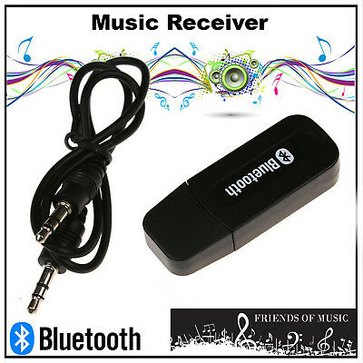 3.5mm Audio Cable to USB Bluetooth Aux Music Receiver Adapter Transmitter New