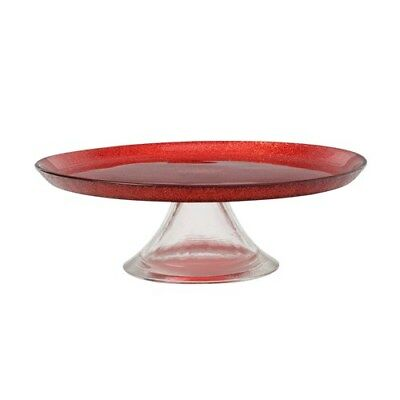 Maxwell & Williams Stellar Cake Stand 21cm Red Brand New