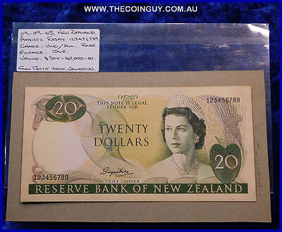 1967  New Zealand  Twenty Dollar Artist Assay Note
