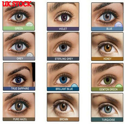 Coloured Contact Lenses Crazy Halloween Coloured Cosmetic Makeup Cosplay lens&U