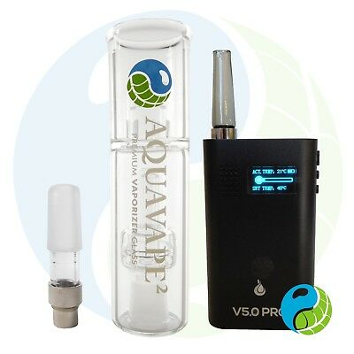 FlowerMate V5.0 S Pro Plus als AquaVape² Set in Schwarz