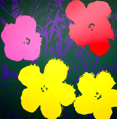ANDY WARHOL Pop Art - Sunday B Morning - Flowers 11.65 - Screen print + COA