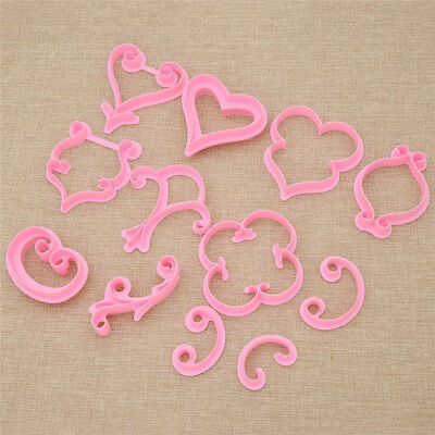 12 Pcs Pastry Biscuit Cutter Icing Mold set DIY Cake Decoration Rose Heart
