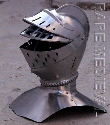 18 GA-Medieval-Knight-Tournament-Close-Armor-Helmet MT710