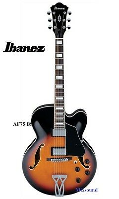 Ibanez Af75 Bs Artcore Chitarra Semiacustica Brown Sunburst Jazz Blues Garanzia