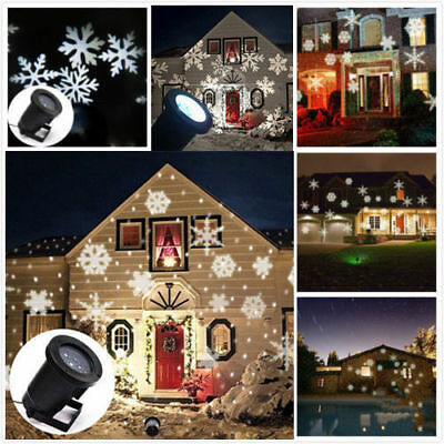 outdoor led moving snowflake laser light projector lamp for christmas party us