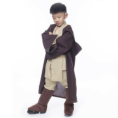 Star Wars Obi Wan Kenobi Jedi Knight Cosplay Costume Outfit Halloween Kids Suit
