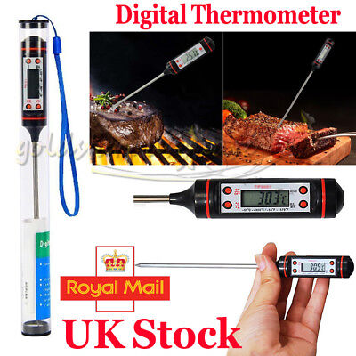 Digital Food Thermometer Meat Milk Turkey BBQ Kitchen Catering Cooking Probe UK
