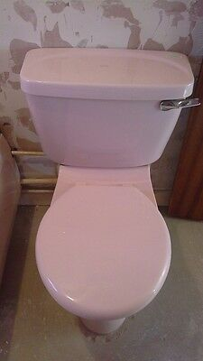 Discontinued retro Armitage Shanks Pink(Rose) close coupled cistern & lid 17651