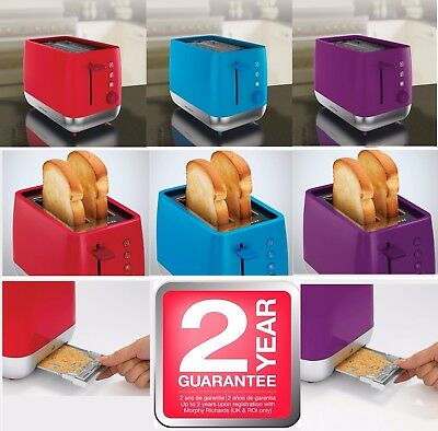 Retro Stainless Steel Toaster Bread 2-slice Bun Warmer Tray Red 91080