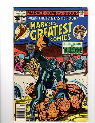 Marvel's Greatest Comics Starring The Fantastic Four #75 Jan 1977 Average cond