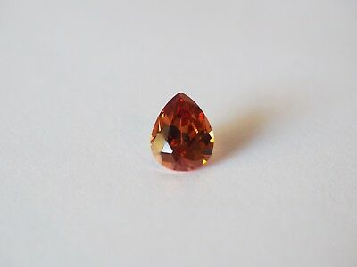 Loose Cubic Zirconia Champagne AAA Pear 10mm x 8mm - Brand New! Bargain Price