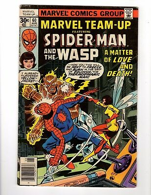 Marvel Team-Up Spider Man and the Wasp 1977 #60 Average condition