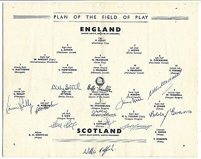 Scotland - Fully Signed By The Wembley Wizards Of 1949