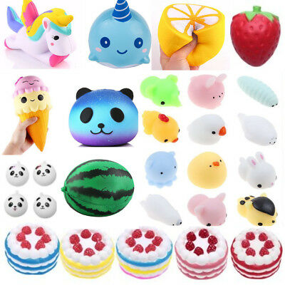 Kawaii Cake Unicorn Squishy Squeeze Relieve Stress Slow Rising Kids Toy Charms