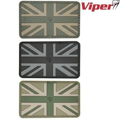 VIPER UNION JACK RUBBER PATCH 6cm x 6cm TACTICAL UK ARMY PAINTBALLING ID PANEL