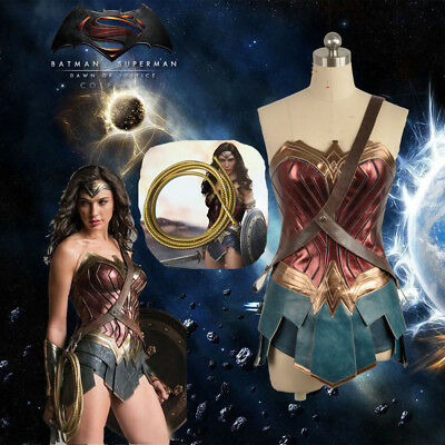 [ In Stock] Justice League Wonder Woman Cosplay Costume Diana Prince Dress Lasso