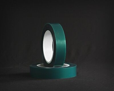 1 Inch x 72 yds - High Temperature Polyester Green Masking Tape for Powder Coat