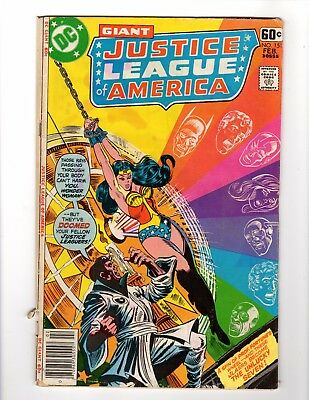 Giant Justice League of America #151 DC Prof Fortune Wonder Woman Poor condition