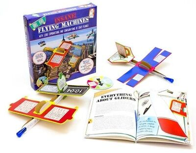 Insane Flying Machines Kit Makes Many Different Planes In Cardboard! Brand New!