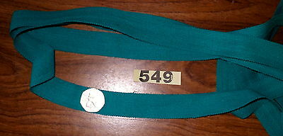 10m  x 25mm  Turquoise poly knitted tape [549]  Haberdashery item