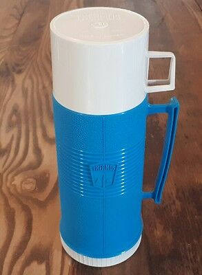 Thermos Blue 15OZ Vintage Retro Coffer Tea Soup Work School Hot Warm