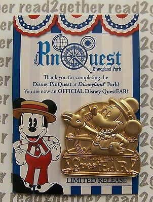 DLR Pin Quest Scavenger Hunt 2016 Mickey Completer Pin