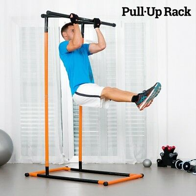 Pull-Up Rack Bench Press, Pull Ups Dips Squats Fitness Station & Exercise Guide