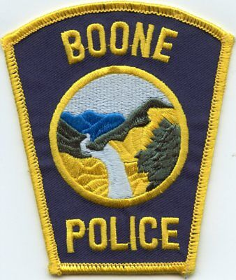 old vintage BOONE NORTH CAROLINA NC POLICE PATCH