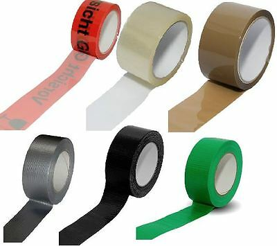 packetband Tape Packing Fabric Adhesive Transparent Brown Warning Glass