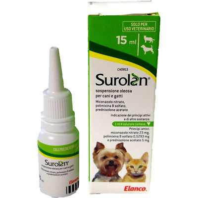 Surolan 15mL ear drops for dogs and cats *Elanco*