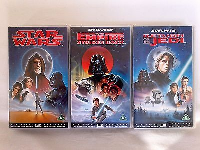 Star Wars & The Return Of The Jedi & The Empire Strikes Back 3 Vhs Tapes
